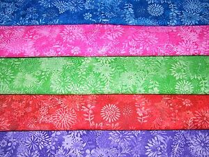 5-FQ-Bundle-VIBRANT-Floral-Prints-100-Cotton-Quilt-Craft-Fabric-Fat-Quarters
