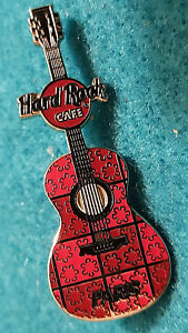 Paris-France-2-Tono-Rosa-Ornate-Cuadrados-Mini-Guitarra-Serie-Hard-Rock-Cafe-Pin