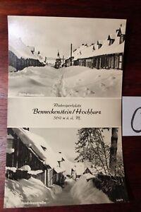 Carte Postale Vue Carte Saxe-anhalt Benneckenstein Hochharz-afficher Le Titre D'origine