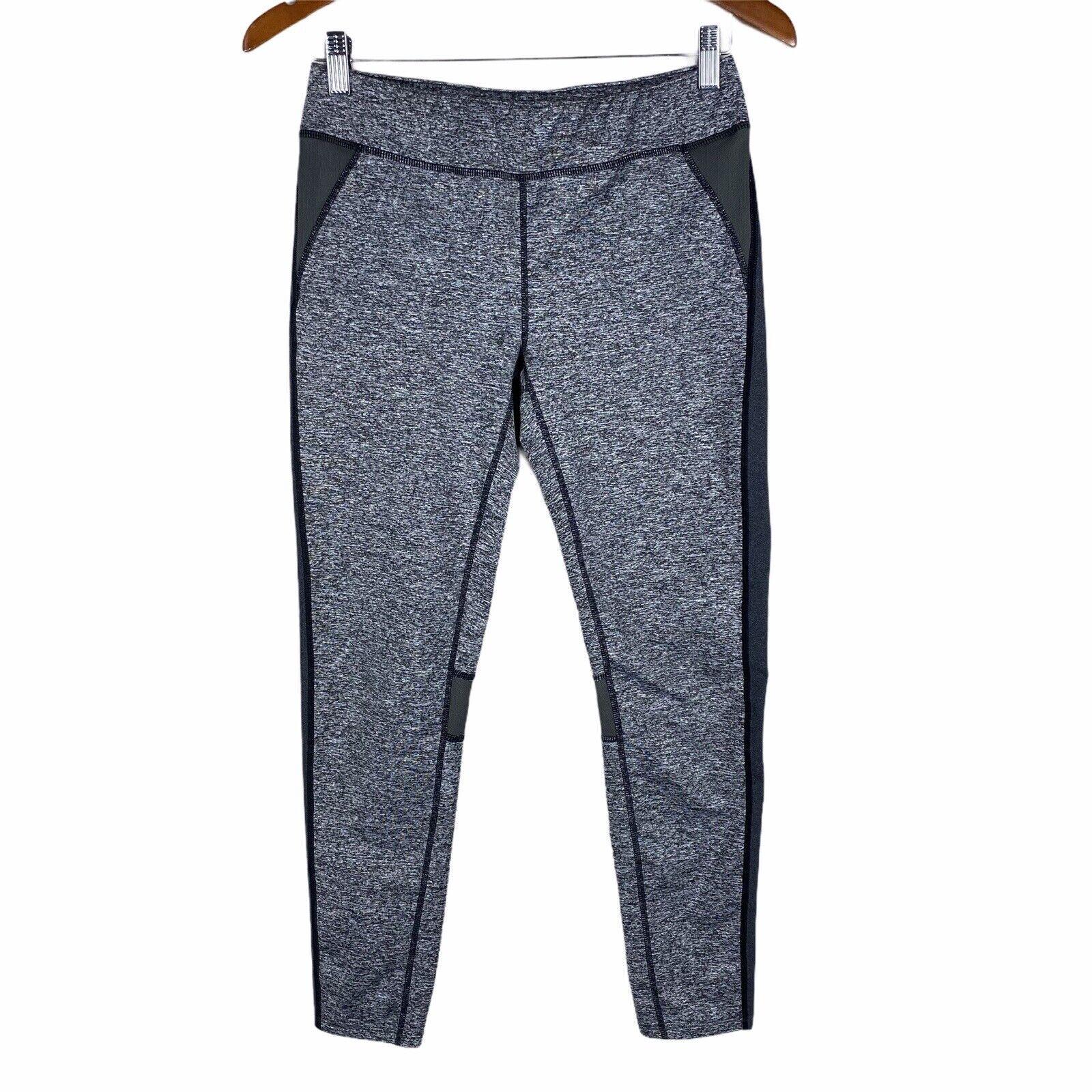 Oiselle Grey And Black Cropped Athletic Leggings Size Medium Gym Yoga