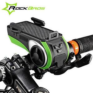 Rockbros-MULTIFUNZIONE-BICICLETTA-Audio-Player-bici-luce-anteriore-ciclismo-il-portacellulari
