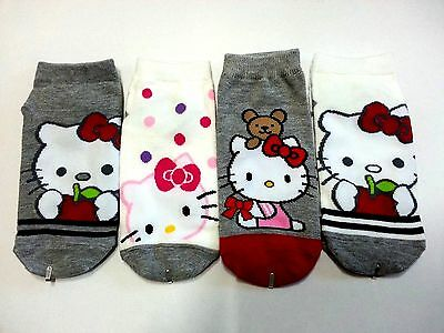 Hello Kitty Multi Color Character Socks 1 Pair Free shipping.