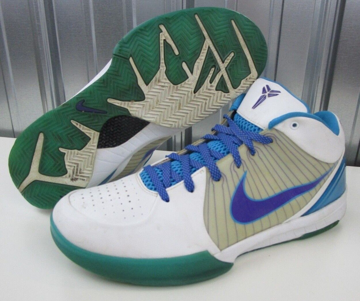OG 2009 Nike Zoom Kobe Bryant 4 IV IV IV Draft Day White bluee Purple Men's shoes sz 13 87fec2