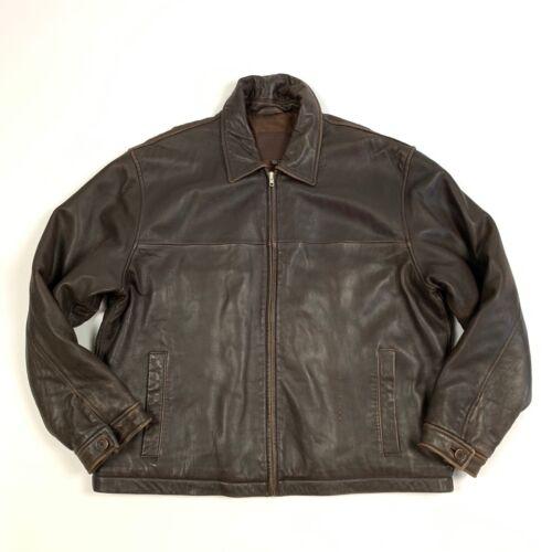 Coach Mens Soft Leather Designer Jacket Coat Brown