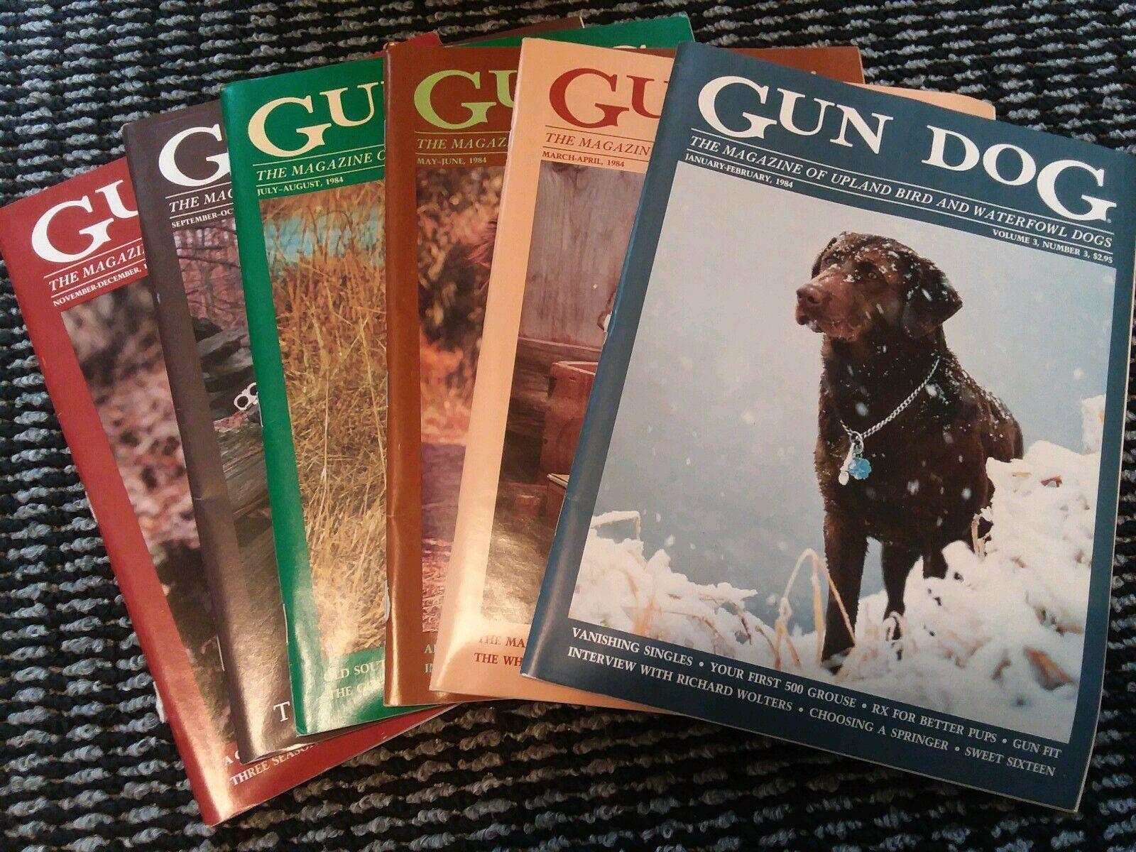 1984 pistola Perro Revistas volumen 3 completo conjunto de 6 Vintage Americana De Caza