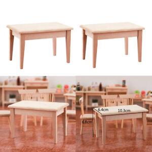 2x-1-12-Mini-Holz-Schreibtisch-Puppenhaus-Miniaturen-Moebel-Modell-Zubehoer