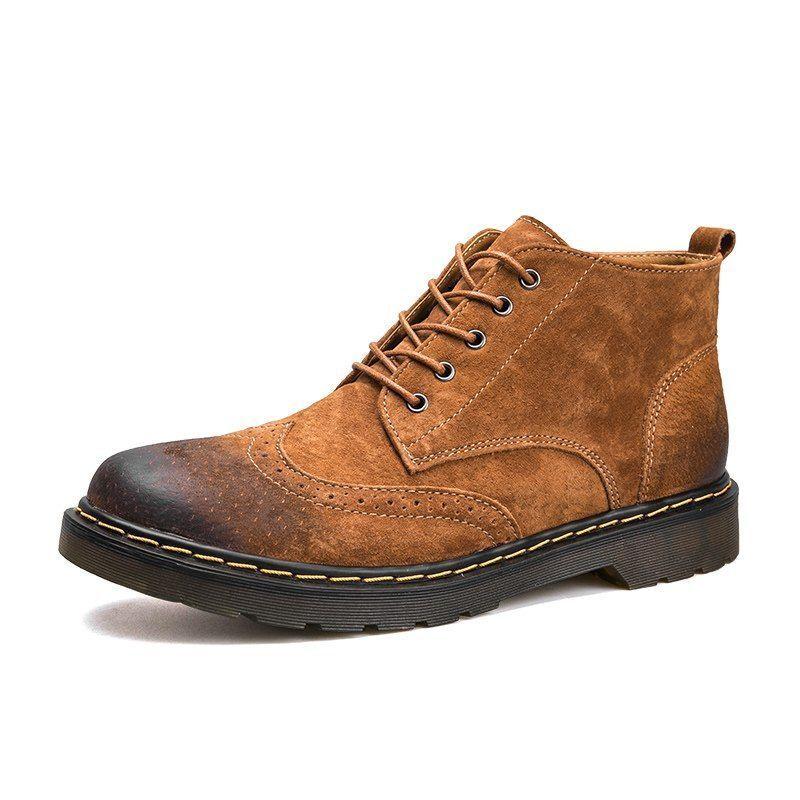 Leather Stiefel Genuine Men Cowboy Western Short Ankle Original Original Original Roper Rancher New 568d03