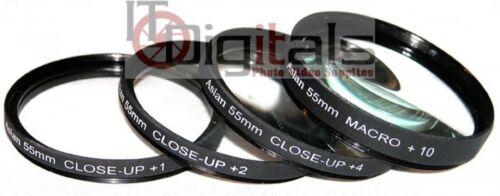 2 55mm 10 CLOSEUP LENS FILTER SET KIT 55 mm Asian 1 4 /& MACRO