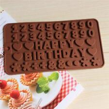 Item 3 LARGE SILICONE NUMBER MOULDS CAKE BAKING PAN BIRTHDAY MOLD NEW N7