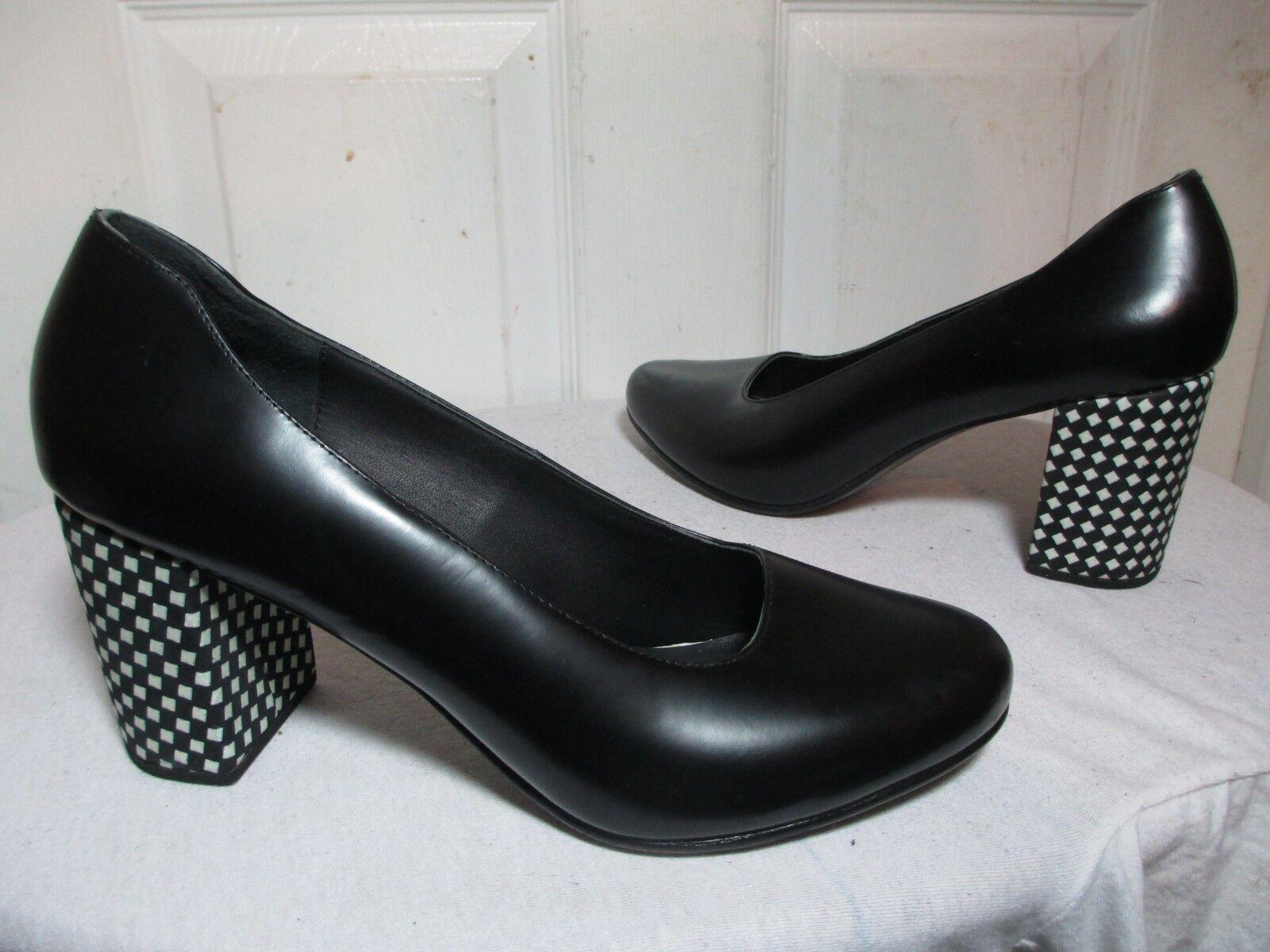 acquista marca CREATURES OF COMFORT nero MARI PUMPS PUMPS PUMPS W  nero&bianca CHECK HEELS 41 US 10  275  molto popolare