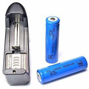 20-x-DZ-5500-mAh-Lithium-Ionen-Akku-3-7V-blau-Typ-18650-Universal-Ladegeraet