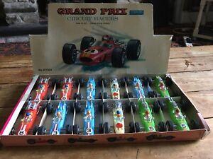 VINTAGE-telsada-Toys-confezione-commerciale-Grand-Prix-Circuito-piloti-con-12-auto-da-corsa