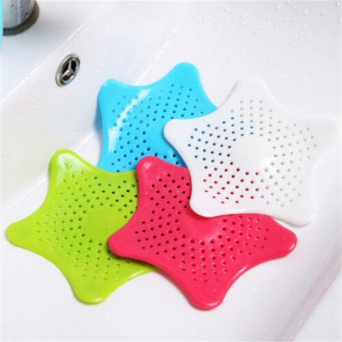 2 pcs Random Silicone Pad Filter Star Shaped Kitchen Bathroom Sink Strainer