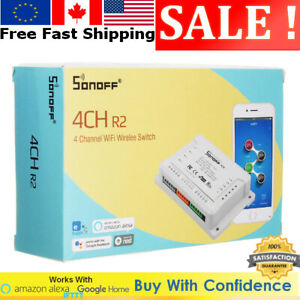 Details about SONOFF® 4CH R2 4 Channel 10A 2200W 2 4Ghz Smart Home WIFI  Wireless Switch APP