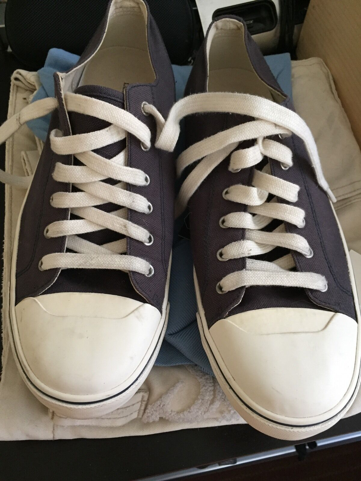 Land's End Canvas Sneakers - Navy Size 11