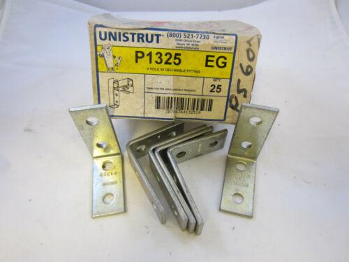 LOT OF 5 UNISTRUT P1325 EG 4 HOLE 90 DEG B-LINE B104-ZN  PS607 BRACKET