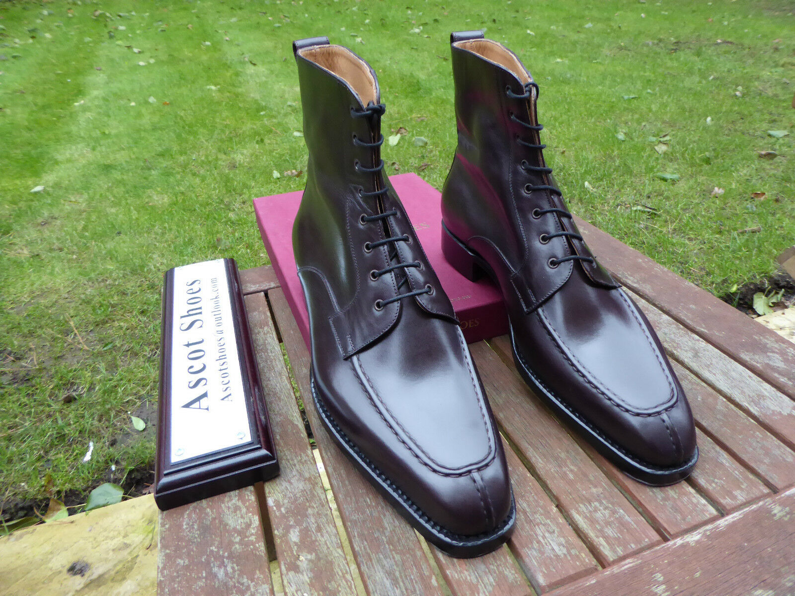 Scarpe casual da uomo  Vt727-Vass NORWEGER derby boots-Oxblood VITELLO-UE 42-US 9 D-U ultimo