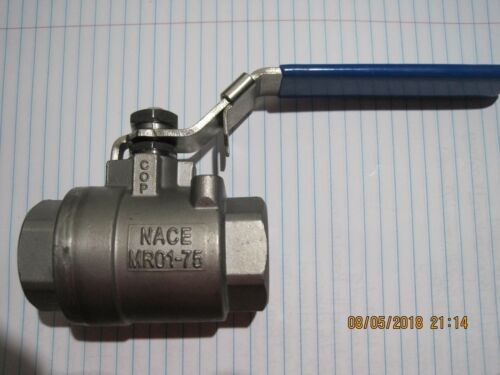 """Industrial1/"""" C316-Stainless Steel Ball Valve NACE MR0175-CF8M WOG 2000"""