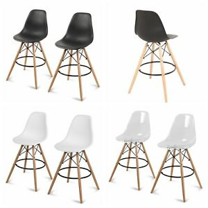 Set-of-2-Counter-Height-High-Chair-Island-Bar-Stool-Patio-Dining-Bar-Pub-Chair