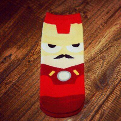 Super Hero Cartoon 3D Harajuku ankle Socks Women Novelty funny Happy cotton Sock