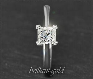 Diamant-Ring-Prinzess-Solitaer-mit-0-70ct-aus-585-Gold-14-Karat-Weissgold
