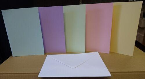 Lot de 10 x Pastel Carte A5 blanc et blanc Enveloppes Gratuit Première Class affranchissement