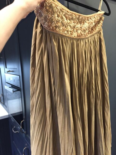 Vera Peru Vintage Suede Leather Skirt size 8