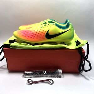 Nike Magista Opus 2 II SG-Pro Mens sz 8.5 soccer cleat volt orange ... 3e2fa683fda22