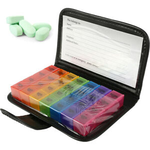 Pill-Box-Organiser-Case-Tablet-Container-Dispenser-Storage-7-Day-28-Compartments