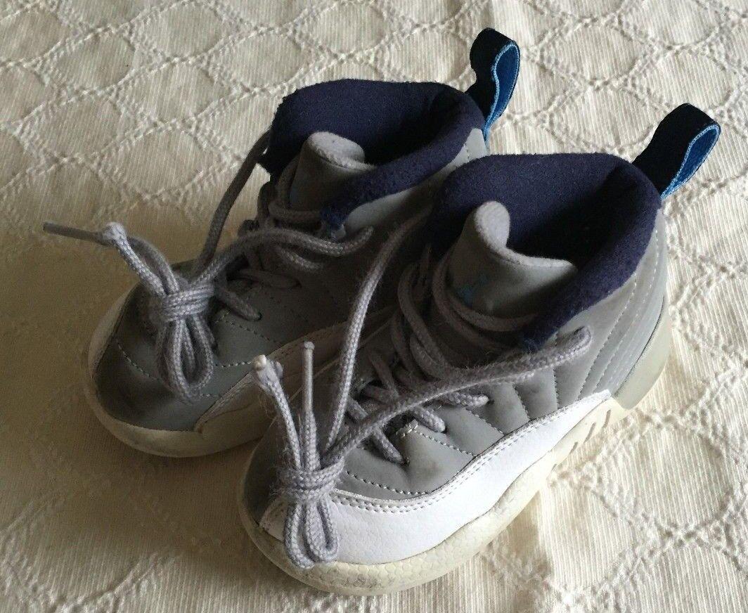 Nike Air Jordan Retro 12 XII University 7C Blue UNC Toddler Shoes 850000-007 Sz 7C University 38a127