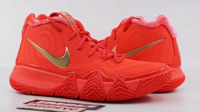 check out d9033 0df8a NIKE KYRIE 4 NEW SIZE 6.5 SAMPLE RED CARPET RED ORBIT METALLIC GOLD 555088  707