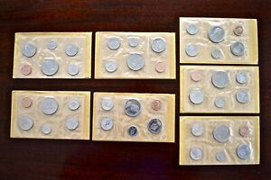 Lot-of-7-Canadian-Uncirculated-RCM-6-Coin-Sets-A-Total-of-42-BU-Coins-4032-8