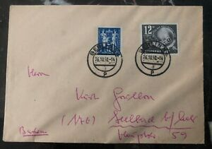 1950 Berlin East Germany Ddr Cover To Seelbach Postal Union Stamp