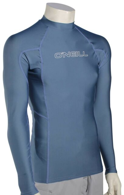 L Long Sleeve Rash Guard Black ONeill Mens Basic Skins UPF 50