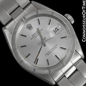 1971 Vintage Rolex Fecha (Datejust) Para Hombre Reloj SS Acero-como Nuevo Con Garantía