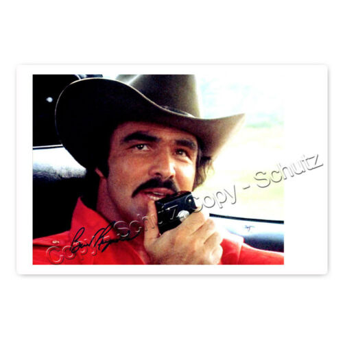 Autogrammfotokarte laminiert // autograph 1936–2018 Burt Reynolds AK9