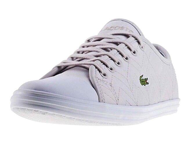 New Women's Lacoste Ziane Sneakers Trainers 417 1 Caw Light Grey Size