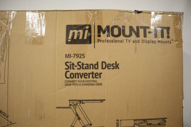 Mount-It! Standing Desk Converter - Height Adjustable Stand Up Desk W/ GAS RISER