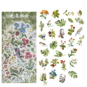 Bag Washi Paper Sticker Bag Plant Album Diary DIY Decorative Stickers 60pcs