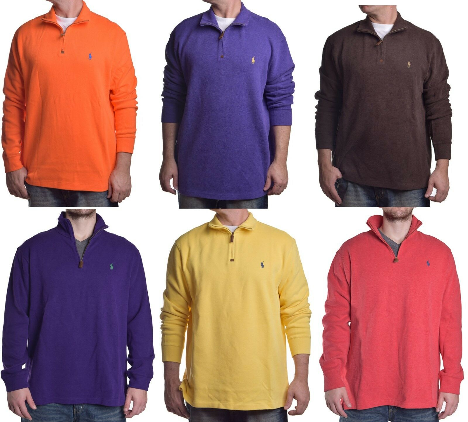 Ralph Lauren Men's  1 4 Zip Casual Pull Over Sweater Choose color and Size