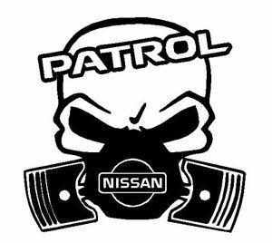Calavera-NISSAN-PATROL-4x4-etc-Tuning-sticker-auto-Fun-pegatinas-racing
