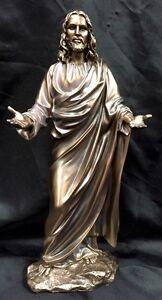 Jesus-Christ-Religious-Bronze-Coated-Statue-Brand-New-28cm-Tall