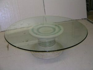 Image Is Loading 54 034 ROUND GLASS TABLE TOP NEW IN