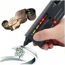 JEWELLERS DIAMOND GEMSTONE TESTER + DUAL LOUPE LOOP FOR SCRAP GOLD & SILVER