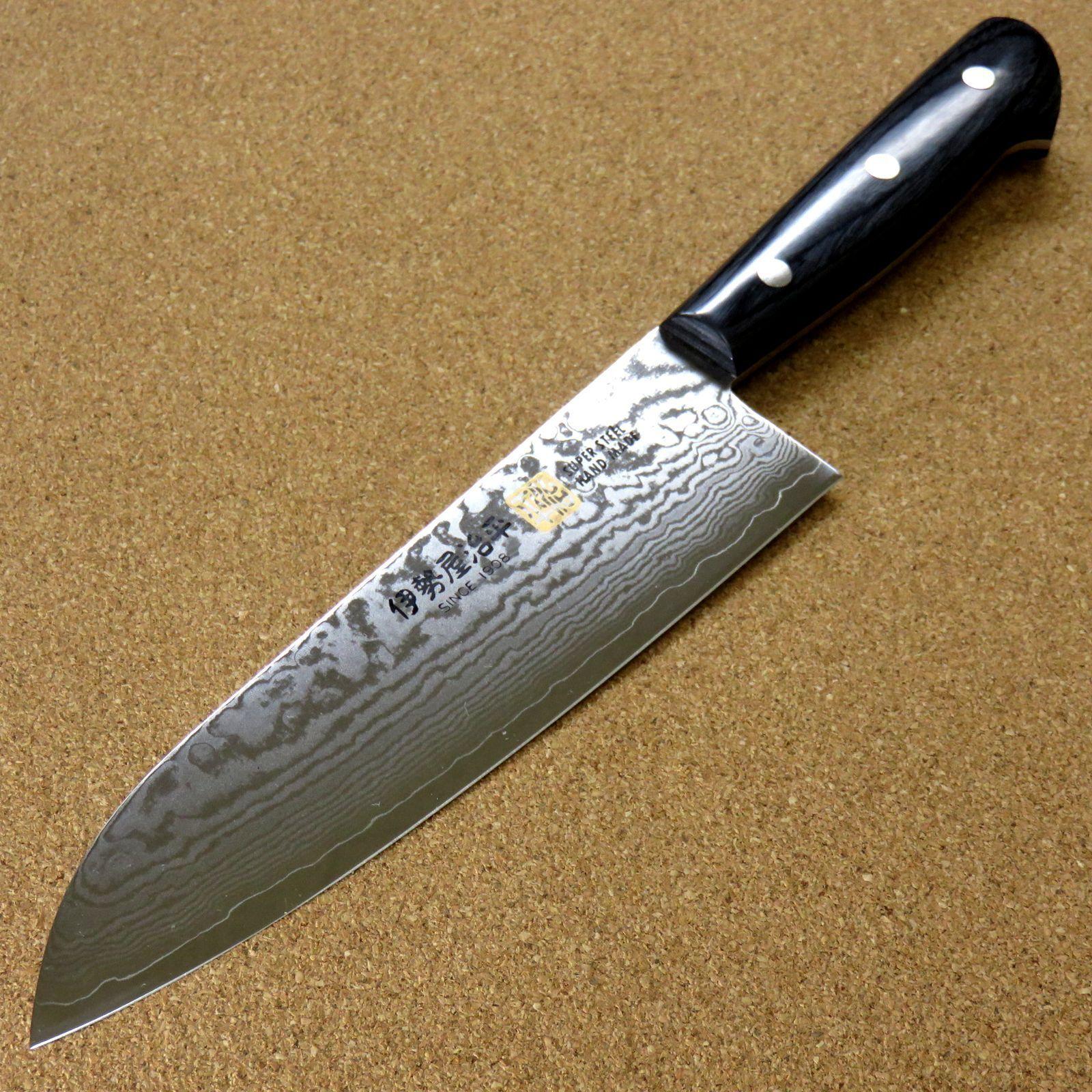 Japonais Seto Iseya-G cuisine Santoku Couteau 180 mm 7.1  VG-10 Damascus SEKI JAPAN