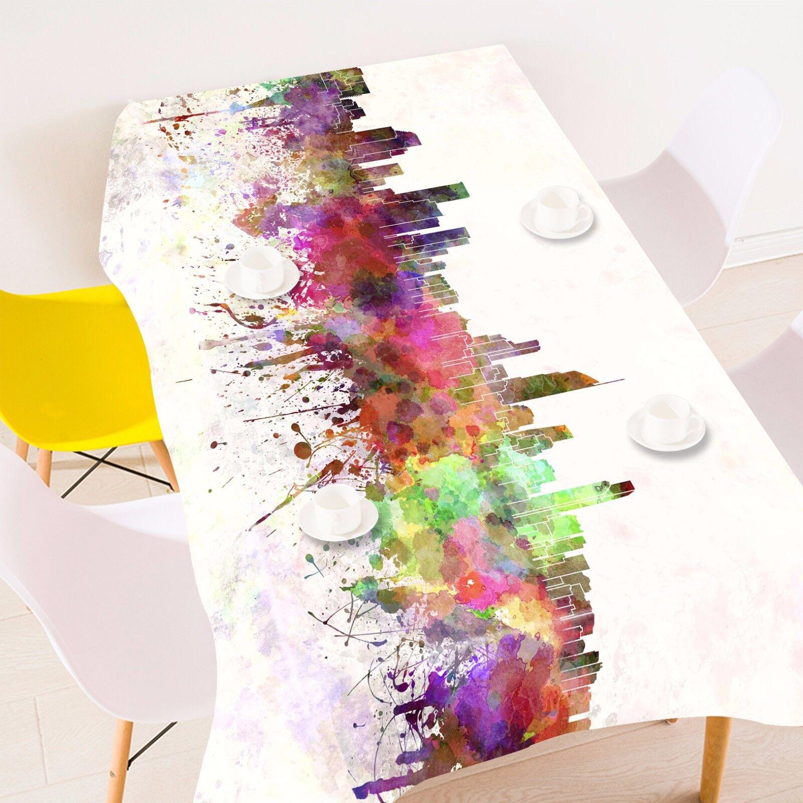 3D Ville Peinture Nappe Table Cover Cloth fête d'anniversaire AJ papier peint Royaume-Uni Citron