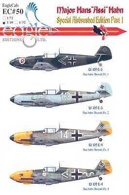 EagleCals Decals 1/48 MESSERSCHMITT Bf-109E MAJOR HANS ASSI HAHN #1