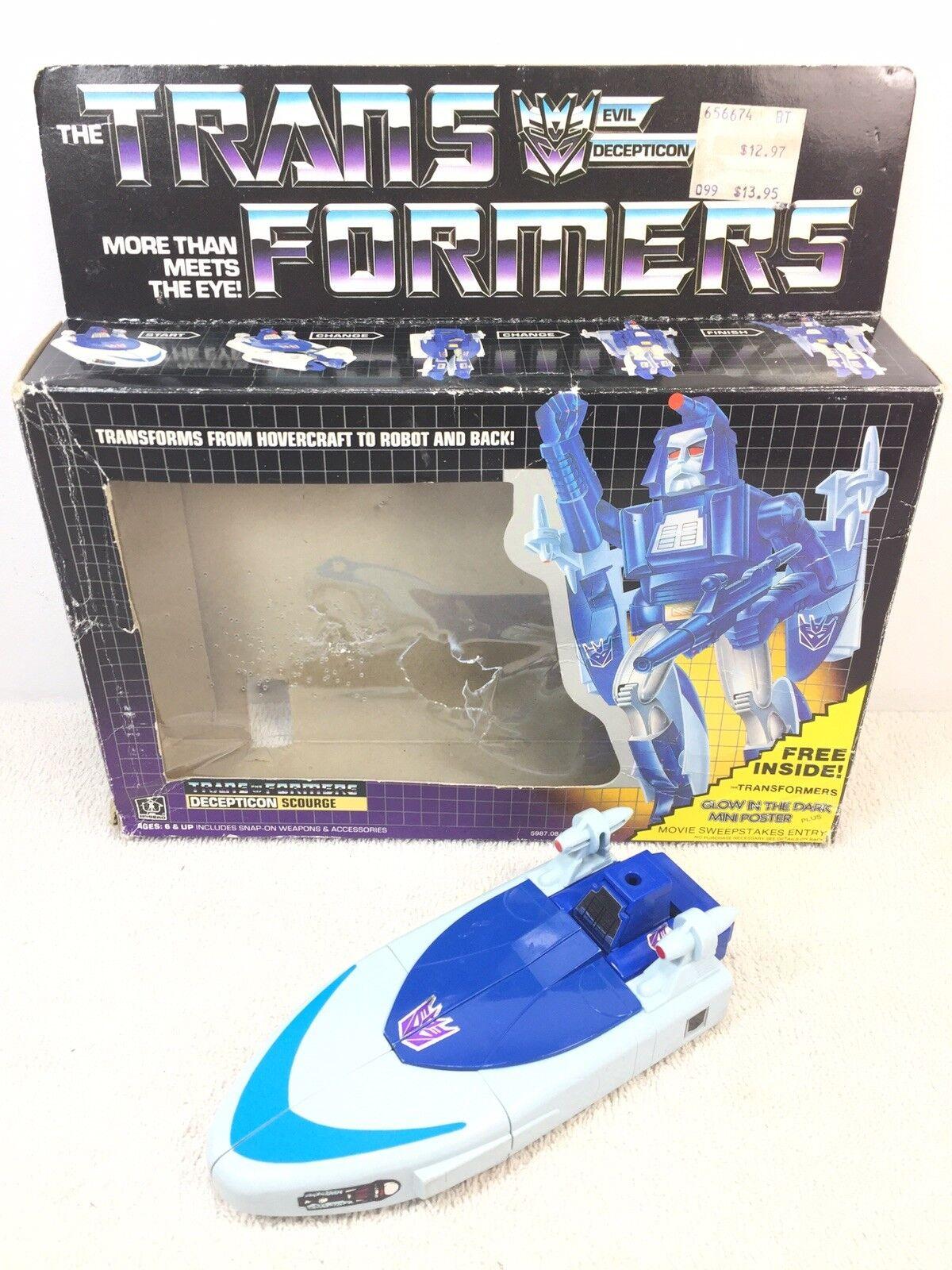 Transformers G1 Scourge 1986 Box Read Description
