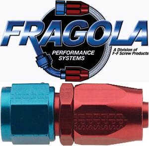 Fragola 220104 4 AN Aluminum Straight Socket Style Hose Fitting Fuel IMCA USRA