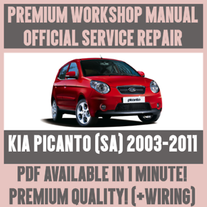 workshop manual service repair guide for kia picanto sa 2003 2011 rh ebay com au kia picanto service manual kia picanto 2008 service manual